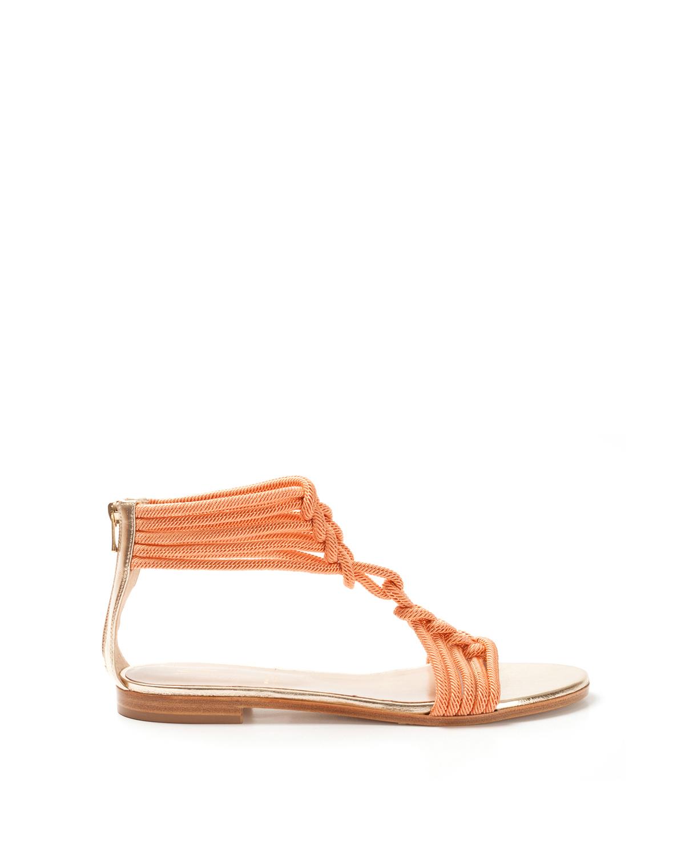 Sandali in corda corallo Genny GmHq4u6Vu
